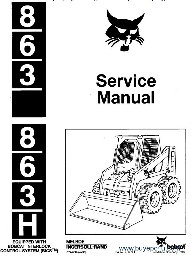 Opperators Manual For 863 Bobcat