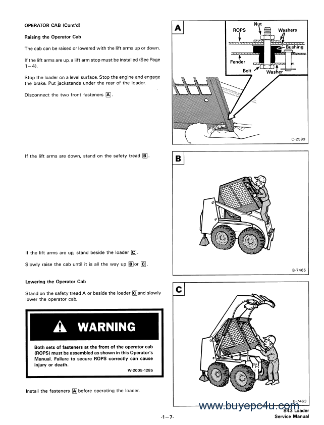 bobcat 843 843b service manual pdf rh buyepc4u com Bobcat Skid Steer Electrical Diagrams Bobcat 873 Parts Diagram