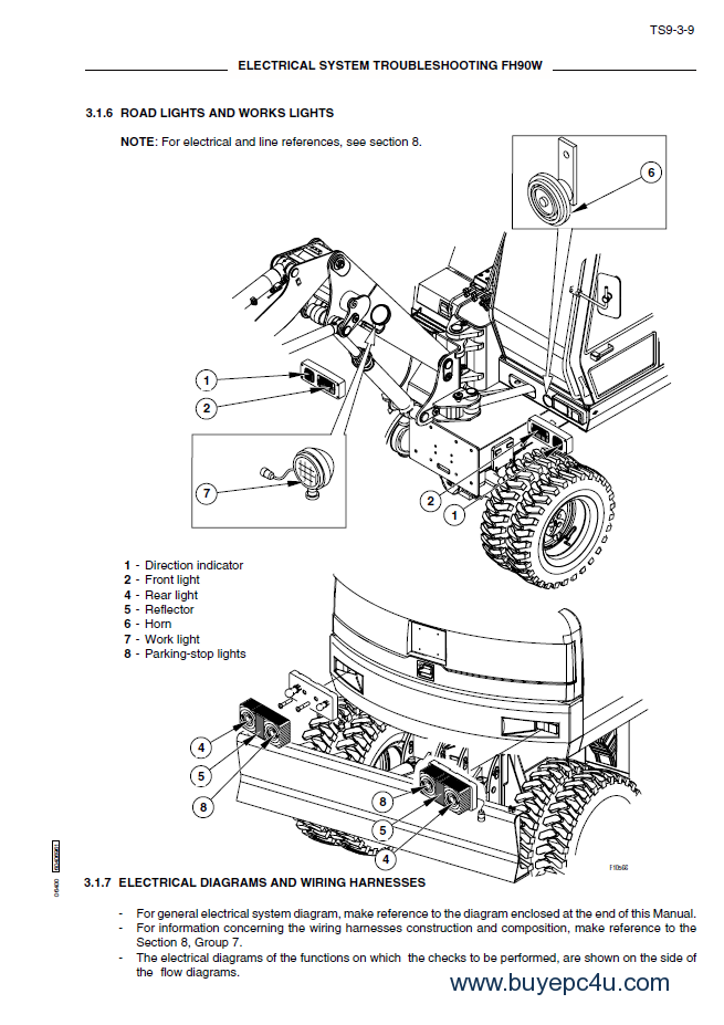 fiat hitachi fh90w excavators workshop manual pdf