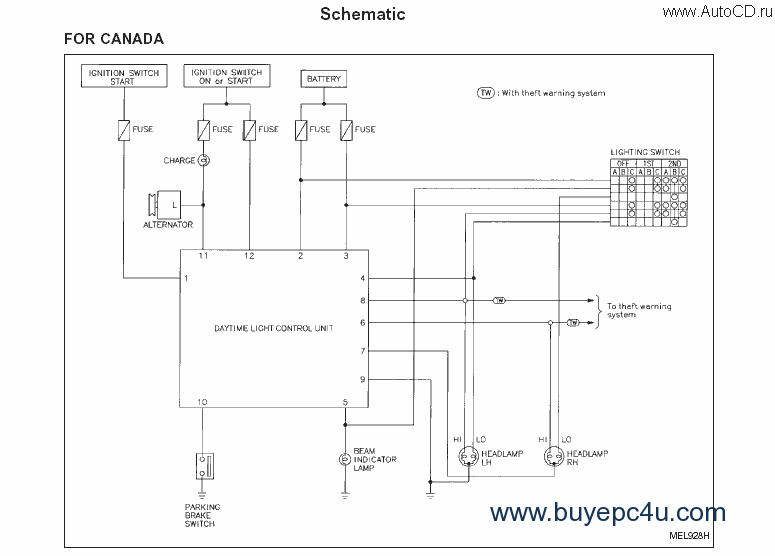 Nissan Lec Wiring Diagram - Schematics Online on