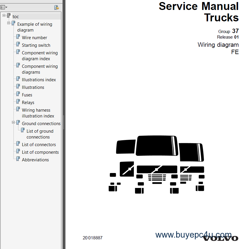 [DIAGRAM_38YU]  Volvo Trucks FE Wiring Diagram Service Manuals PDF | Fe Wiring Diagram |  | BuyEpc4u