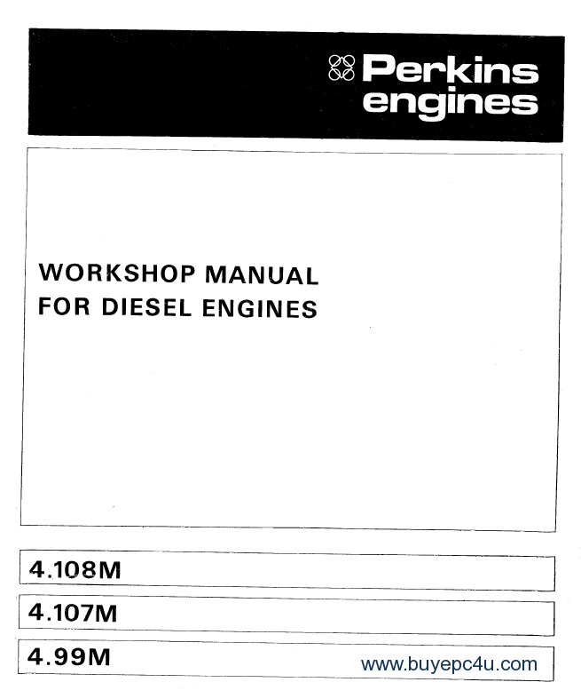 Perkins p250he engine Parts Manual