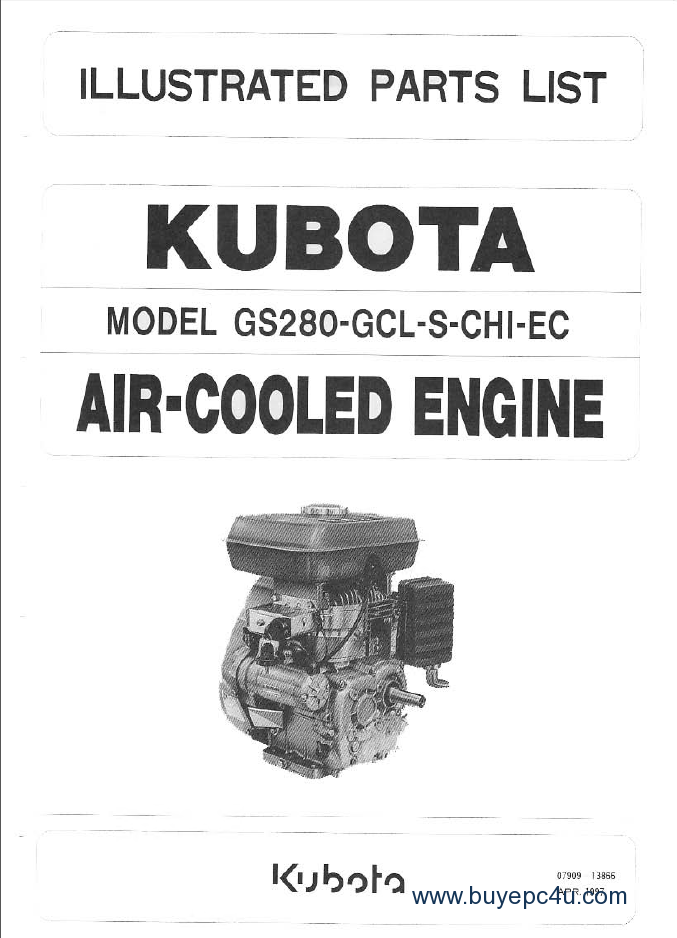Kubota Engines Parts  U0026 Workshop Manuals Pdf