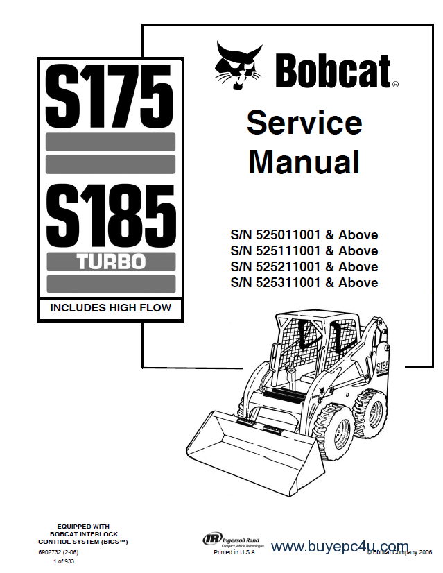 bobcat s175 s185 turbo 525 service manual pdf. Black Bedroom Furniture Sets. Home Design Ideas