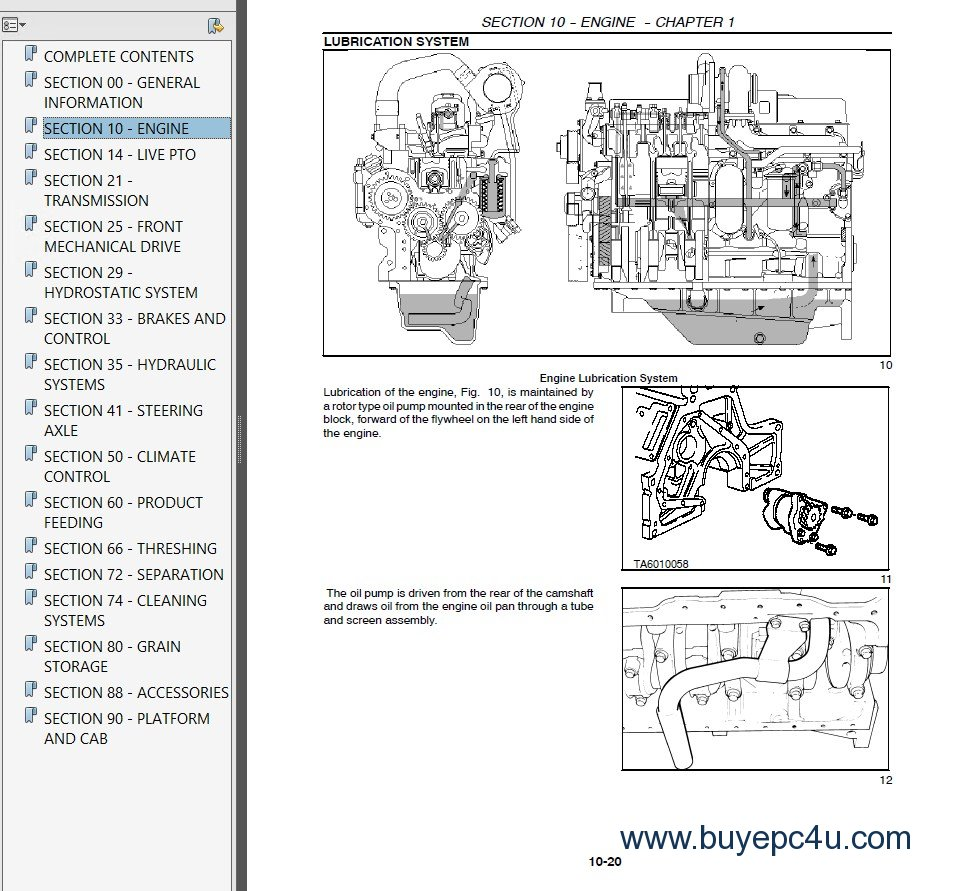 new holland cx series combines repair manual pdf