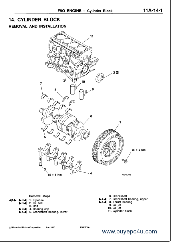 mitsubishi engines manual service bulletins 1986 2005 rh buyepc4u com Mitsubishi Montero Engine Manual 2005 Mitsubishi Lancer Manual PDF