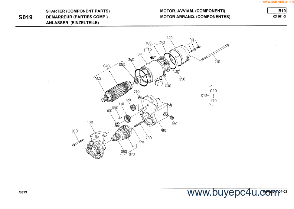 Kubota Excavator Parts : Kubota excavator kx illustrated pdf parts list