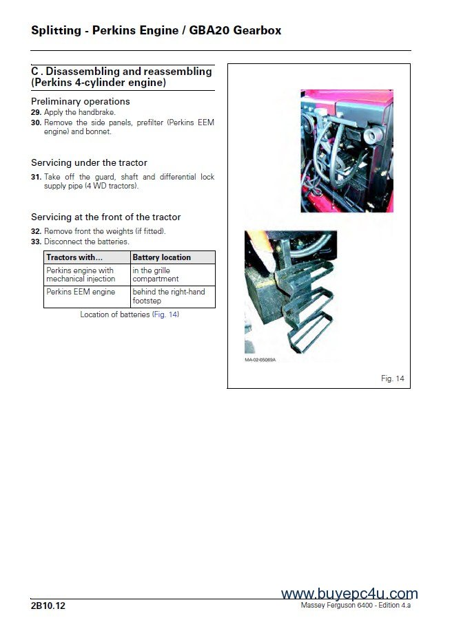 Massey Ferguson MF-6400 Series Service Manual PDF