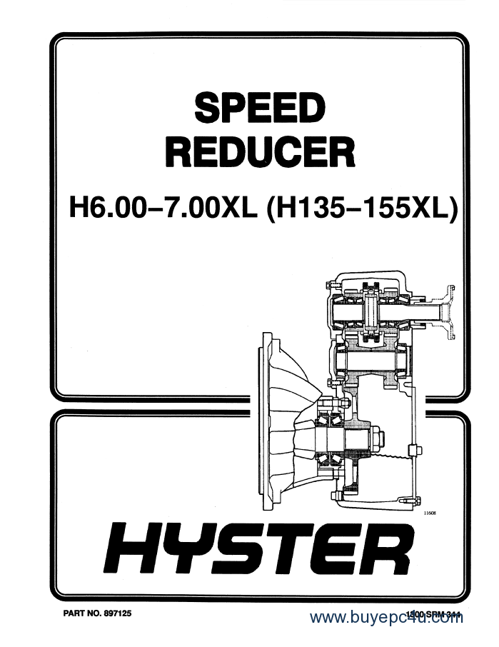 hyster challenger h135xl h155xl service parts manual pdf