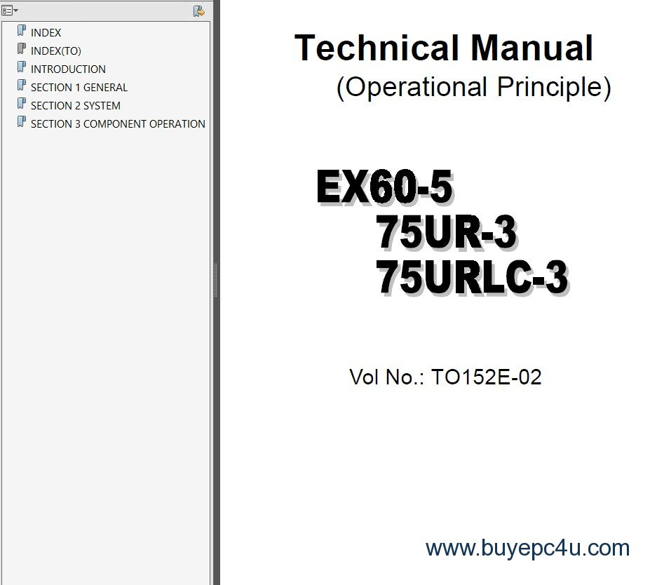 hitachi ex 60 ex 370 excavators set of service manuals pdf rh buyepc4u com Hitachi Service Manuals HA6 Hitachi Excavators