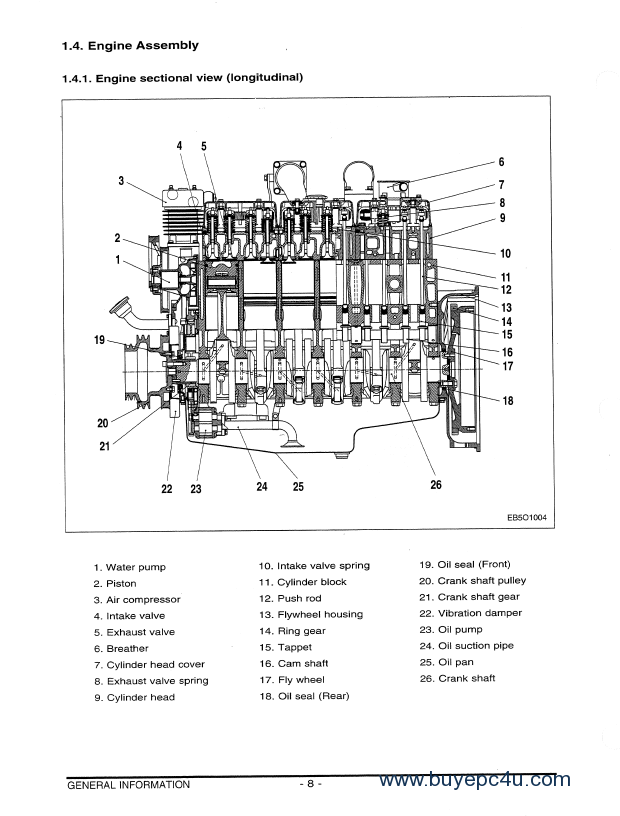 daewoo doosan d1146  ti de08tis engine shop manual pdf