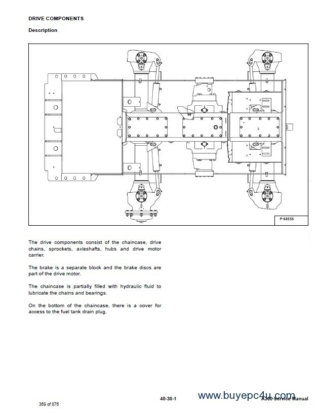 Bobcat A300 All-Wheel Steer Service Manual PDF