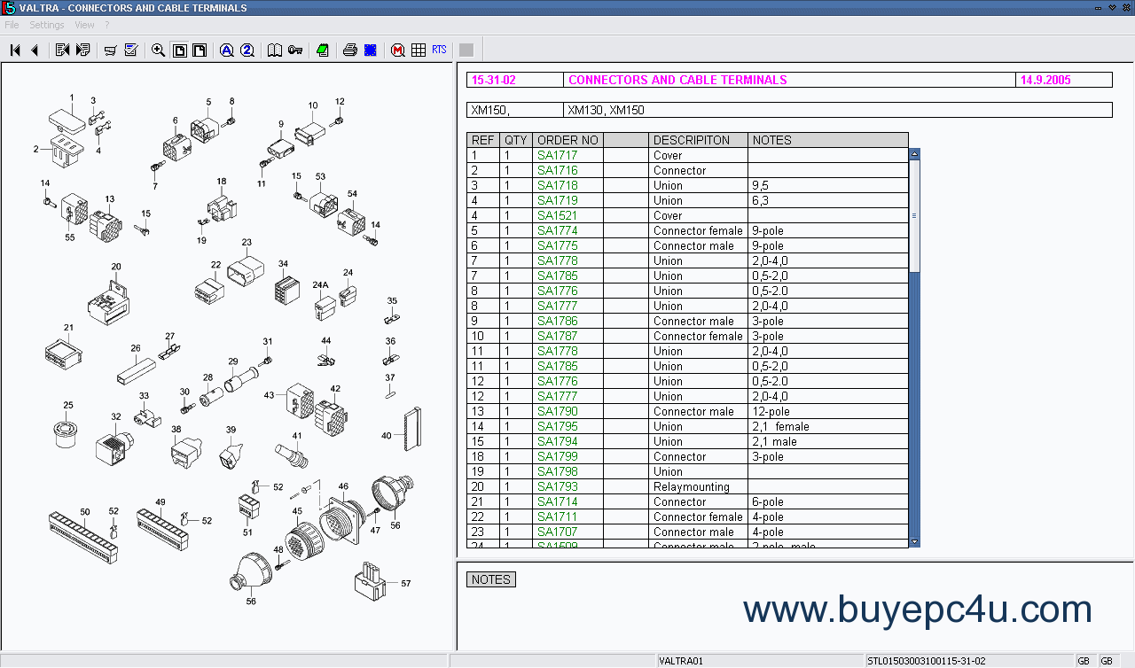 262b wiring schematic for a original spare parts catalog valtra vision  original spare parts catalog valtra vision