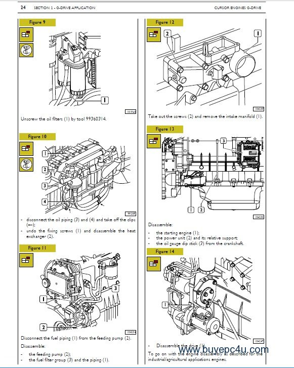Iveco Cursor Tier 3 Series Industrial Application PDF Manual