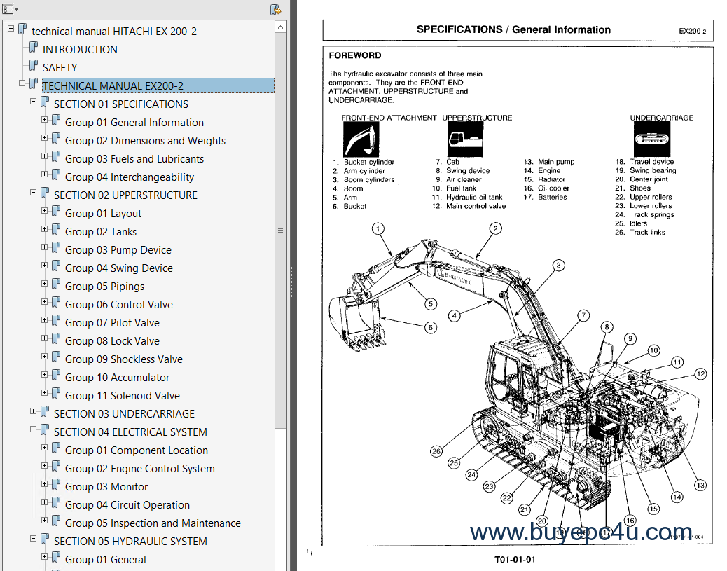 hitachi ex200 2 excavator pdf service manuals rh buyepc4u com hitachi ex200-2 excavator service repair manual hitachi ex200-2 excavator service repair manual