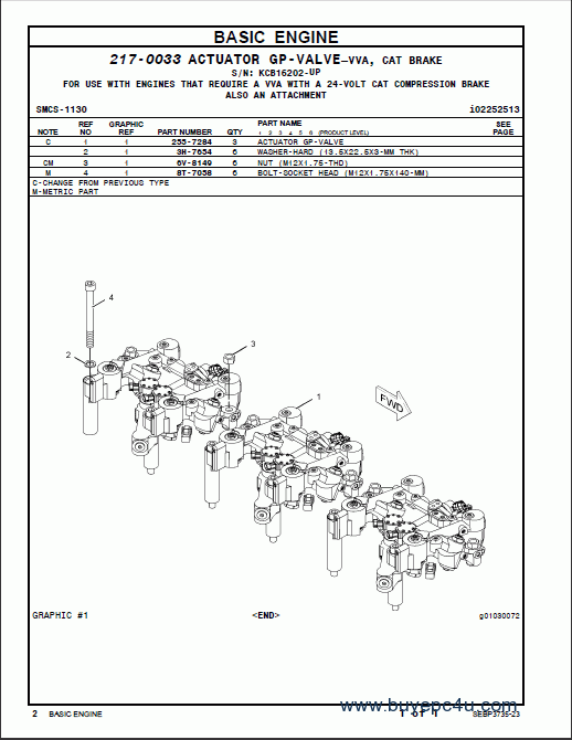 the image of caterpillar c13 on-highway engine parts manual spare parts  catalogue #1