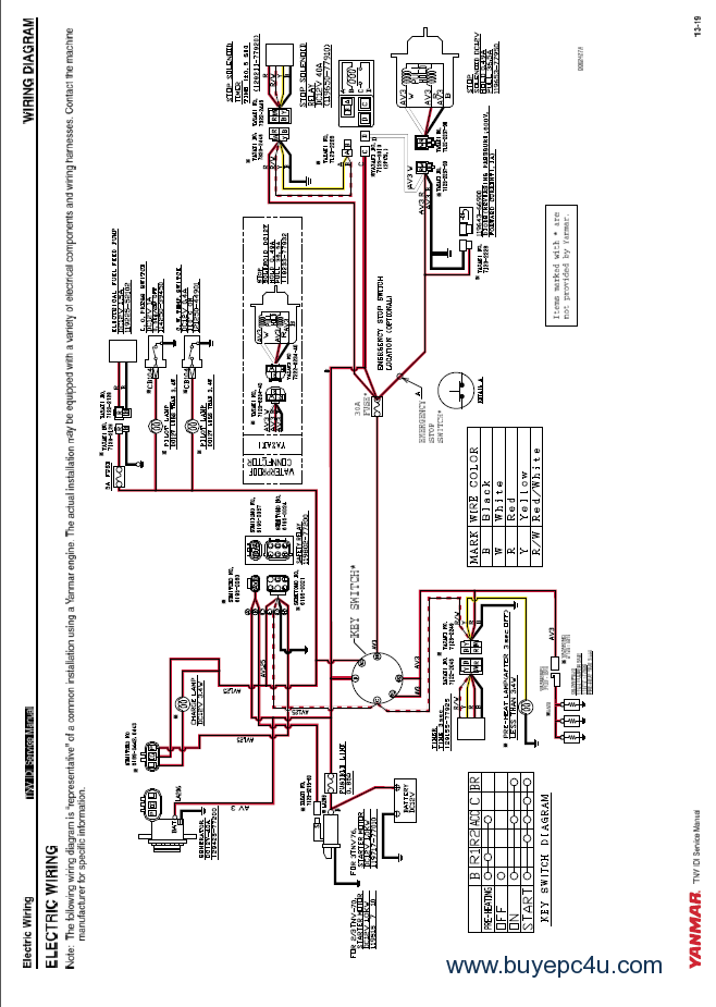 yanmar tractor alternator wiring diagram wiring diagram fuse box u2022 rh friendsoffido co