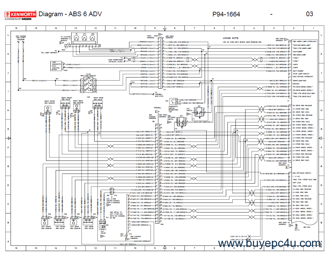 Kenworth T Wiring Electrical Schematics Manual Pdf on kenworth t800 fuse panel diagram