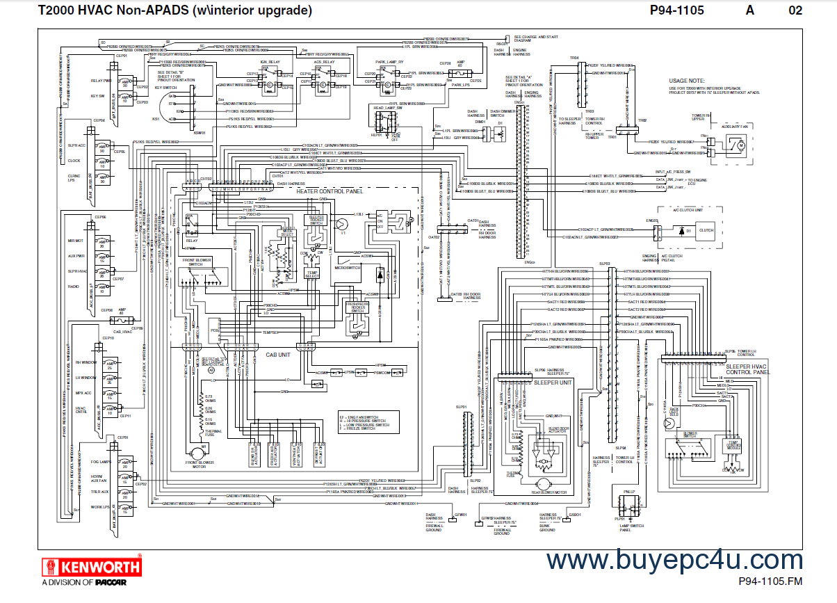 kenworth t2000 wiring schematics manual pdf