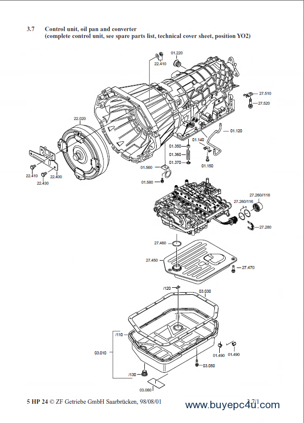 Repair Manuals For Zf Automatic Transmission 5hp24 And 5hp24a  Pdf