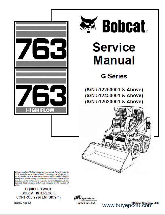 bobcat 763  763 high flow g series service manual pdf