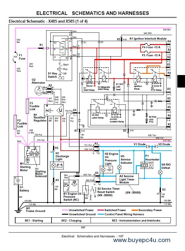 john deere x465 x475 x485 x575 x585 lawn garden tractor service manual pdf mitsubishi l300 fb wiring diagram pdf efcaviation com mitsubishi l300 electrical wiring diagram at crackthecode.co