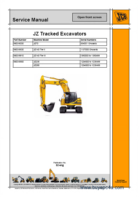 Jcb Heavyline S3a Workshop Service Repair Manuals