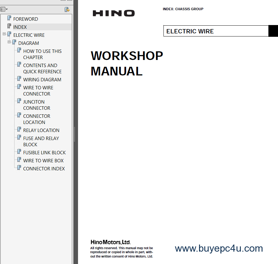hino vehicles workshop manual pdf. Black Bedroom Furniture Sets. Home Design Ideas