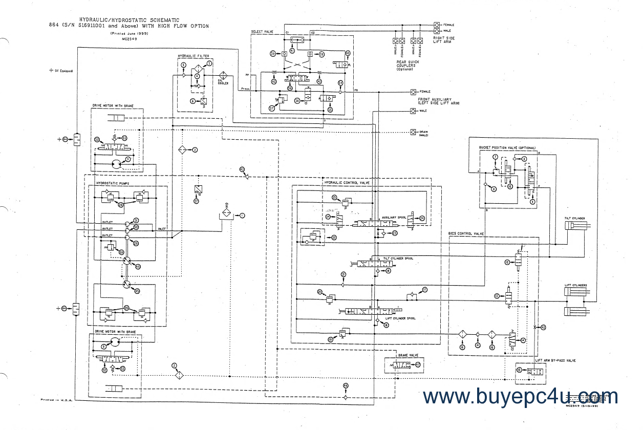 bobcat s130 wiring diagram bobcat 864, 864 high flow compact track loader pdf bobcat 864 wiring diagram #8