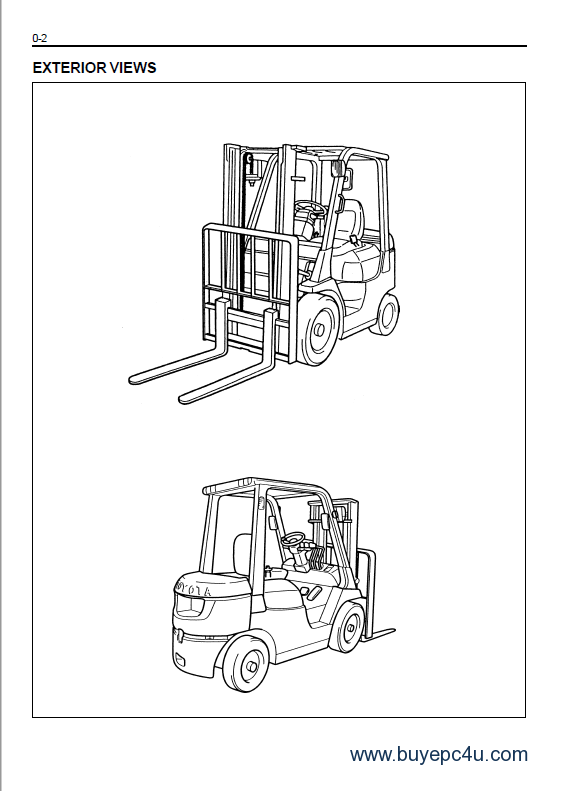 the image of toyota 7 fdf/fgf 15-35 series forklifts service manual pdf