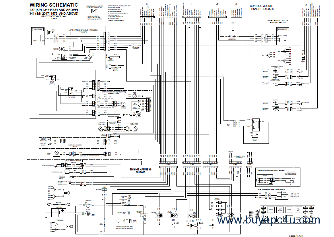 Bobcat Wiring Diagram Electronic Diagrams Lull Schemes T590 Schematic T300 Starting Know